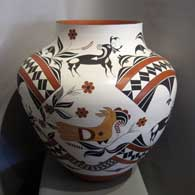 Polychrome pot with traditional Acoma design