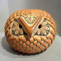 Polychrome owl figure