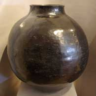 Polished black pot attributed to Sarafina Tafoya