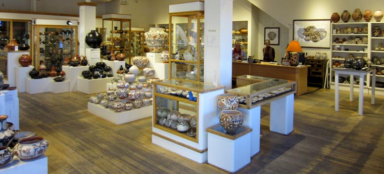 A view inside Andrea Fisher Fine Pottery