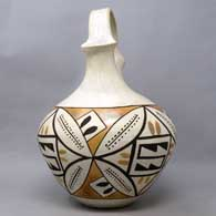 Polychrome wedding vase with geometric design, click or tap to see a larger version