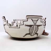 Polychrome classic Zuni fertility bowl, click or tap to see a larger version