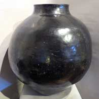 Mother of Margaret, Large polish black storage jar, click or tap to see a larger version