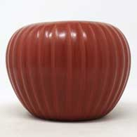 Red carved melon jar, click or tap to see a larger version