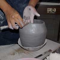 Shaping the pot