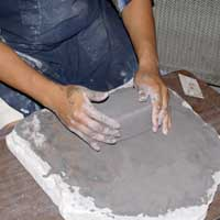 To be usable, the clay must be formed iunto a block and stored overnight