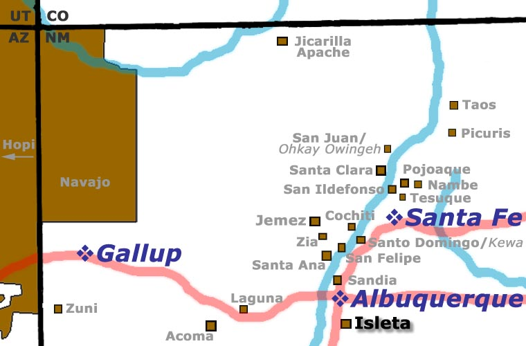 Location of Isleta Pueblo