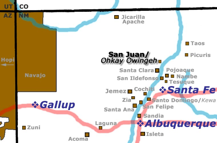 San Juan Pueblo location map