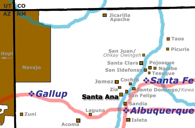 Santa Ana Pueblo location map