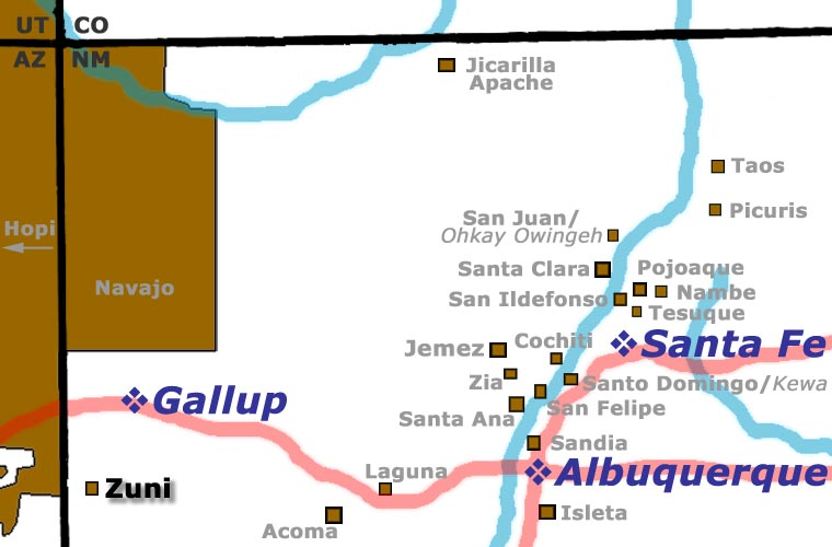 Zuni Pueblo location map
