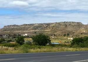 Looking across Tewa Village to First Mesa