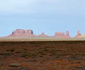A view in Monument Valley